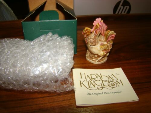 Harmony Kingdom Lords of the Roost Crowing Roosters UK Made  Box Figurine