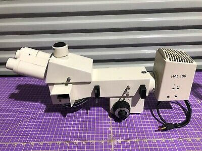 Zeiss Trinocular Microscope Head With Parts And Hal 100 Lamp And More