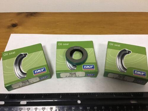 Quantity (3) CR Oil Seals 7915, 20mm ID, 35mm OD, 7mm Width