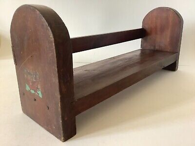 Vintage 1950s? wooden school project, bookstand. With Welsh sticker.j