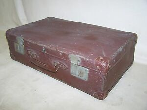 valise ancienne de voyage ann es 50 ann es plaque dur culte r tro design ebay. Black Bedroom Furniture Sets. Home Design Ideas