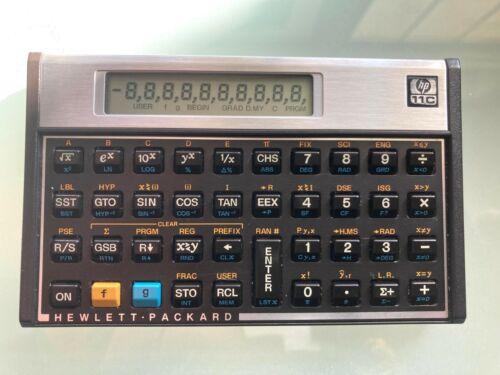 Vintage Hewlett Packard HP-11C Scientific Calculator w/ Case Tested & Working