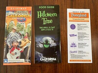 Halloween Times 2019 (2019 Disneyland California Adventure Guide Map Halloween Time Food Times)