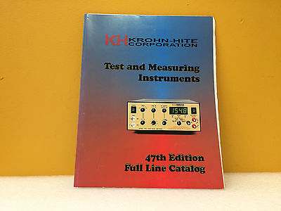 Krohn-hite Test Measuring Instruments 47th Edition Full Line Catalog