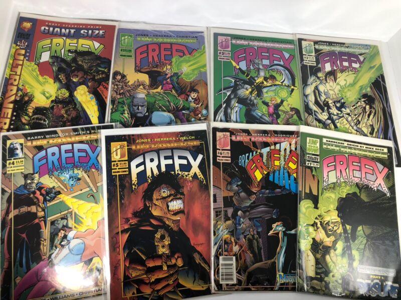 Freex Ultraverse Comics Complete Set #1-#18 + Giant Size &Card