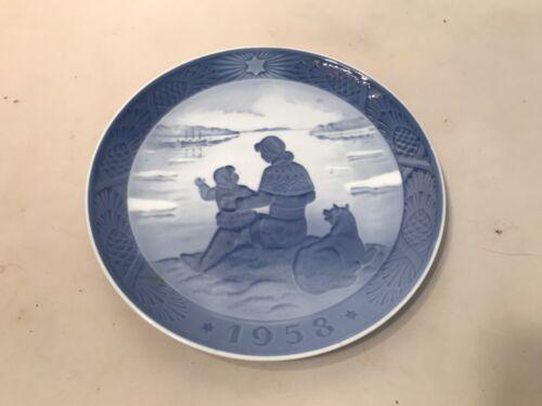 1958 ROYAL COPENHAGEN DENMARK HANS H HANSEN SUNSHINE OVER GREENLAND PLATE LQQK