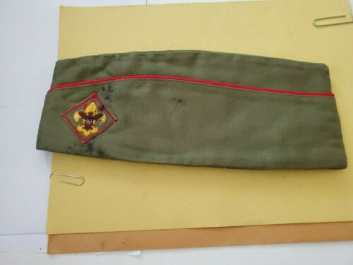 VINTAGE Official Boy Scouts of America Large 7-7 1/8 BSA Olive Garrison Cap