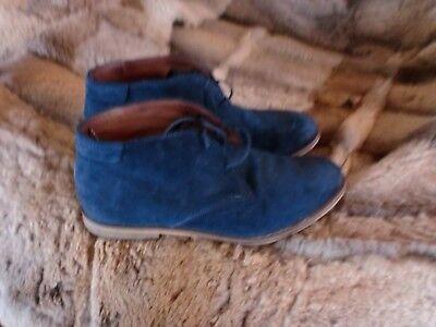 boots gr 36 blau wildleder booties mark o polo desert schnürboots wie neu neuw