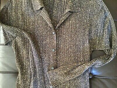 Issey Miyake Pleats Please Mineral Print Vintage Top VGC,only Label Damaged