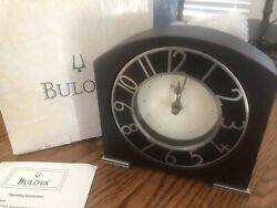 Bulova Wood Quartz Desk Clock B7341  A8 CW112