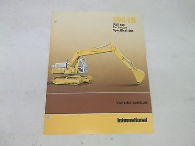 International Harvester 3964b Pay Hoe Excavator Specifications Brochure