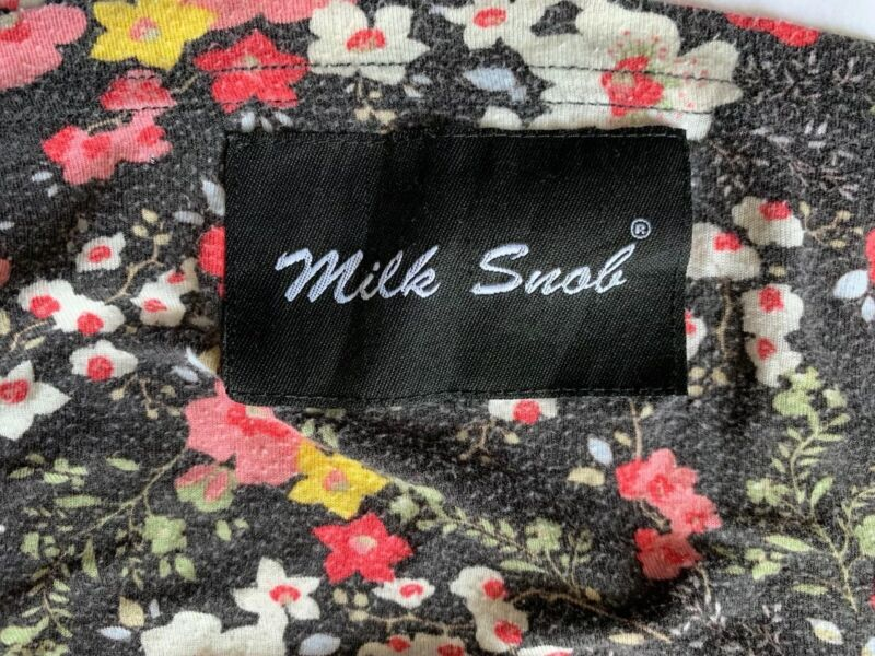 MILK SNOB BLACK PEONY PRINT Car seat Breastfeeding Cover Black Floral Flowers