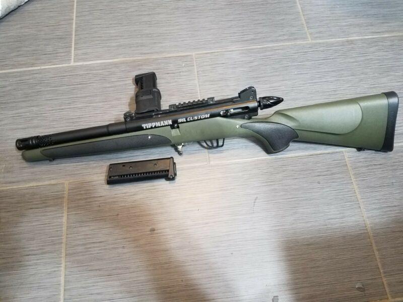 """Custom built """"bolt action"""" Tippmann 98 In Remington Stock"""