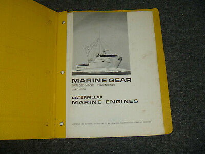 Cat Caterpillar Twin Disc Mg-502 Transmission Marine Engines Shop Service Manual