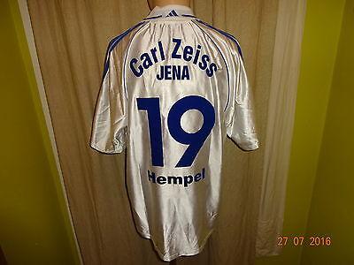 FC Carl Zeiss Jena Adidas U19 Matchworn Trikot 2000/01 + Nr.19 Hempel Gr.L- XL image