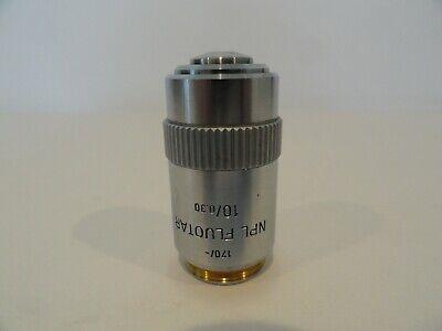 Leitz Wetzlar Npl Fluotar 10x 0.30 170- Microscope Objective Good Condition