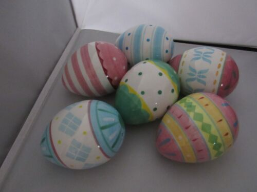 Collection of 6 Andrea by Sadek Painted/Glazed Easter Eggs – Rare!!!