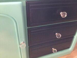 Long dresser teal & navy blue- available