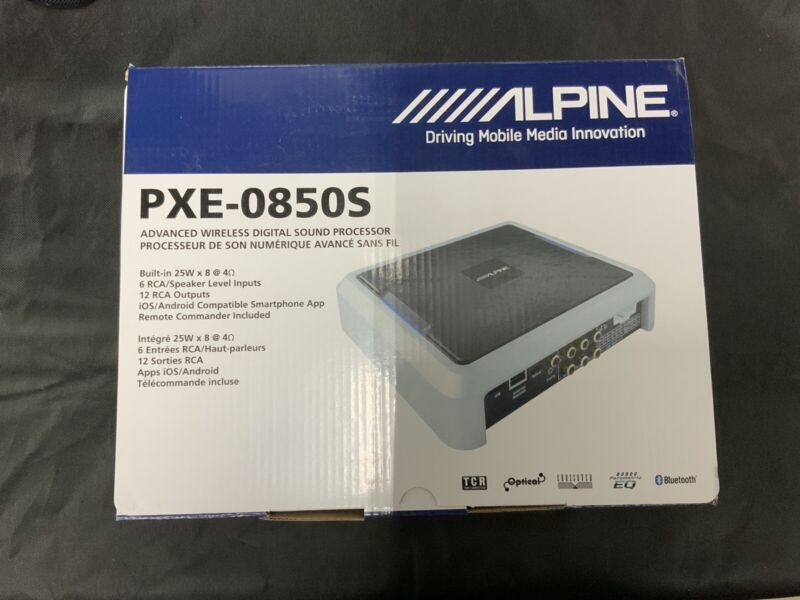 ALPINE PXE-0850S Universal Wireless Digital Signal Processor New Sealed DSP