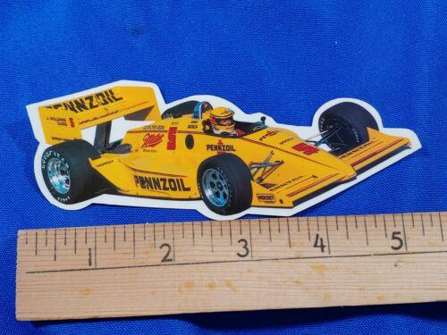 Rick Mears Pennzoil Race Decal Sticker Indycar Penske Racing Indy Car 500 VTG