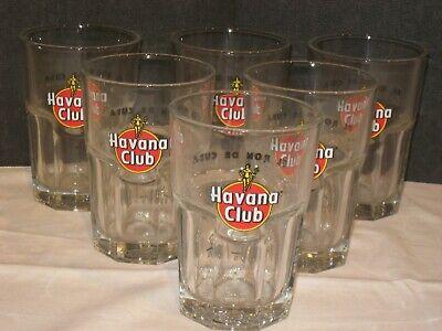 6 Stück Havana Club Rum Cocktail Mojito Cuba Libre Glas/ Gläser
