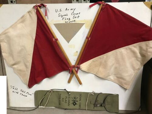 WW2 US Army Signal Corps Flag Kit 2 Flags & Case