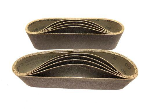"3M 60 Grit 241D Three Mite Sanding Belt 2-1/2"" x 21"" LOT OF 10"