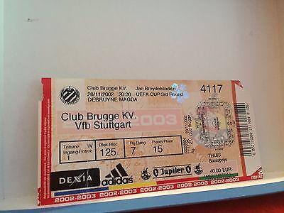 Football Ticket - Club Brugge KV - VFB Stuttgart - UEFA cup 3round