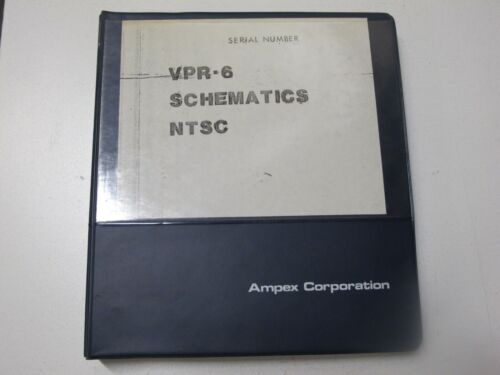 Ampex VPR-6 Schematics NTSC Manual