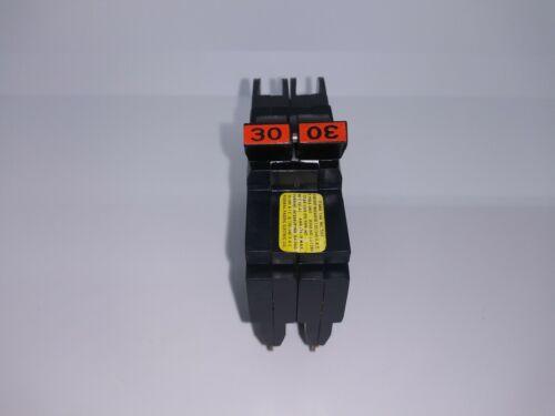 Federal Pacific FPE NC230 30 Amp 2 Pole Stab-Lok Circuit Breaker Mini Twin THIN