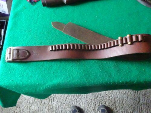 Hunter® 155 Buscadero Cowboy .44 / .45 Cartridge Belt Brown Leather  RH - MEDIUM