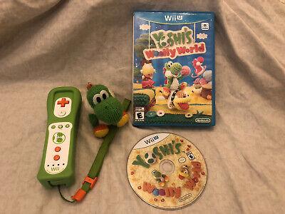 Yoshi's Woolly World (Wii U, 2015) Bundle, Yoshi Wii U Control, Yoshi Amiibo