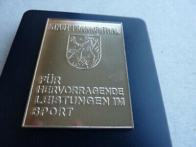 Frankenthal Silber Plakette/Medaille für hervorragende Leistung im Sport 111 g   online kaufen