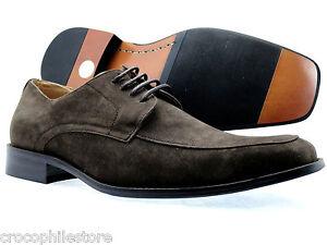 Mens-Dress-Shoes-Coronado-Oxford-Lace-Up-Brown-Suede-Fashion-Shoes