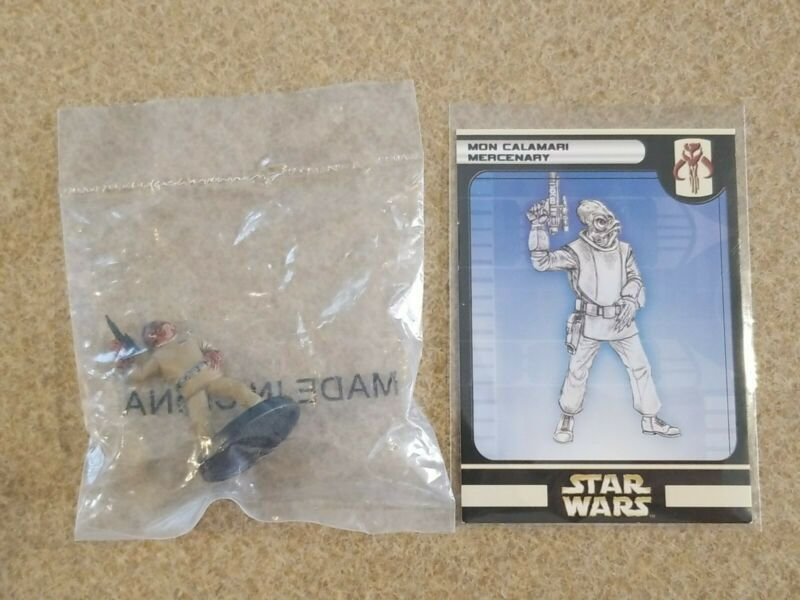 Star Wars Miniatures Rebel Storm Mon Calamari Mercenary #53/60 NEW NIB SWM Minis