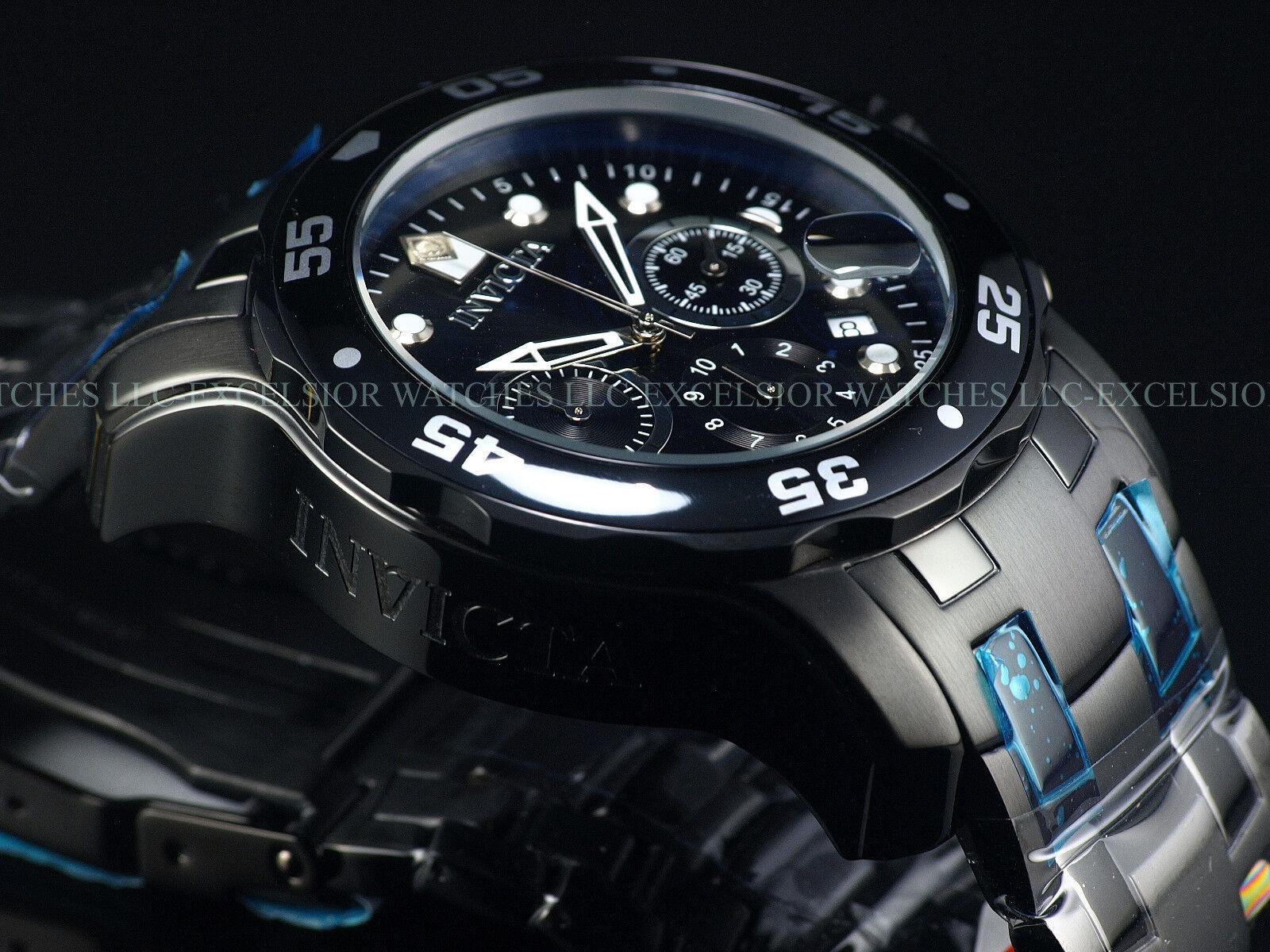 $119.98 - Mens Invicta Pro Diver Scuba Military Combat BLACK Chrono Swiss Parts Watch New