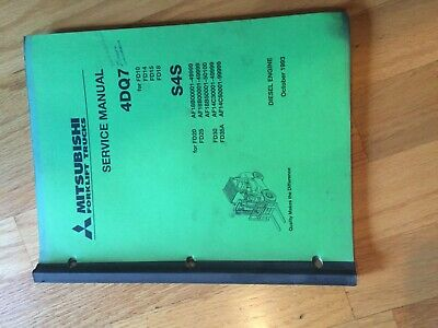 Mitsubishi 4dq7 S4s Diesel Engine Series Forklift Service Manual Truck