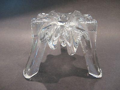 Vintage Blenko Art Glass Lg Icicle Candle Holder Don Shepherd Melting Ice