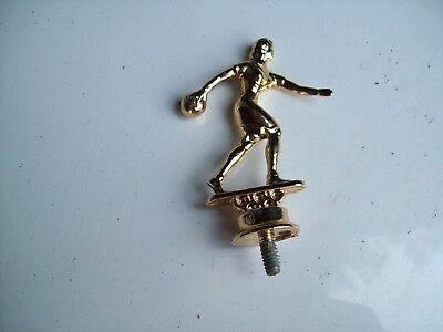 Trophy Parts Lot- Gold Metal 2 Female Bowler- New