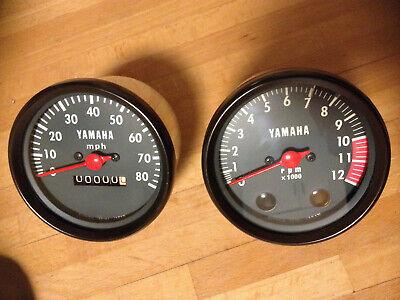 <em>YAMAHA</em> RD 50 DX CLOCK SET SPEEDO SPEEDOMETER REV COUNTER TACHOMETER M