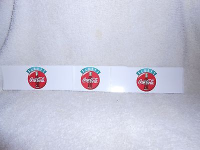 Coca Cola Peel & Stick Decals--Lot of 3--5 inches long