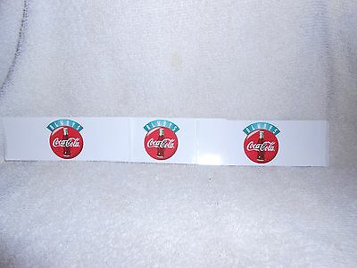 Coca Cola Peel & Stick Decals or stickers-Lot of 3-each one is 5 inches long