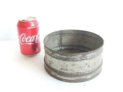 Antique RUSTIC Flour Sieve Sifter strainer mesh bottom - galvanized tin Tin Flour Sifter