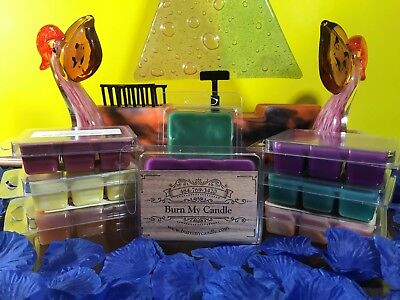 HEAVILY SCENTED WAX MELTS Hand poured Soy Wax Tart Melts Clamshells  - Melts Hand Poured Candles