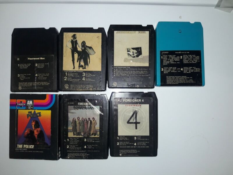 8 track tapes classic rock lot