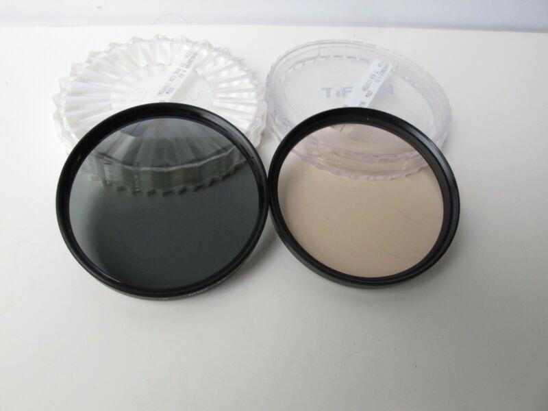 Tiffen 77mm Filters, Circular Polarizer and 81B  --  EUC