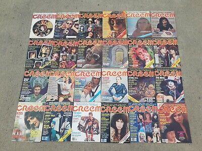 24 CREEM Rock Magazines Lot 1973-1980 Rolling Stones BEATLES STONES QUEEN BOWIE
