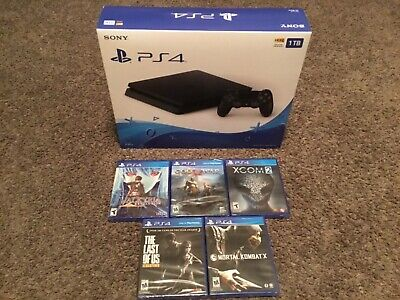 Sony PS4 1TB 2115B Console Bundle 5 Games All New God Of War