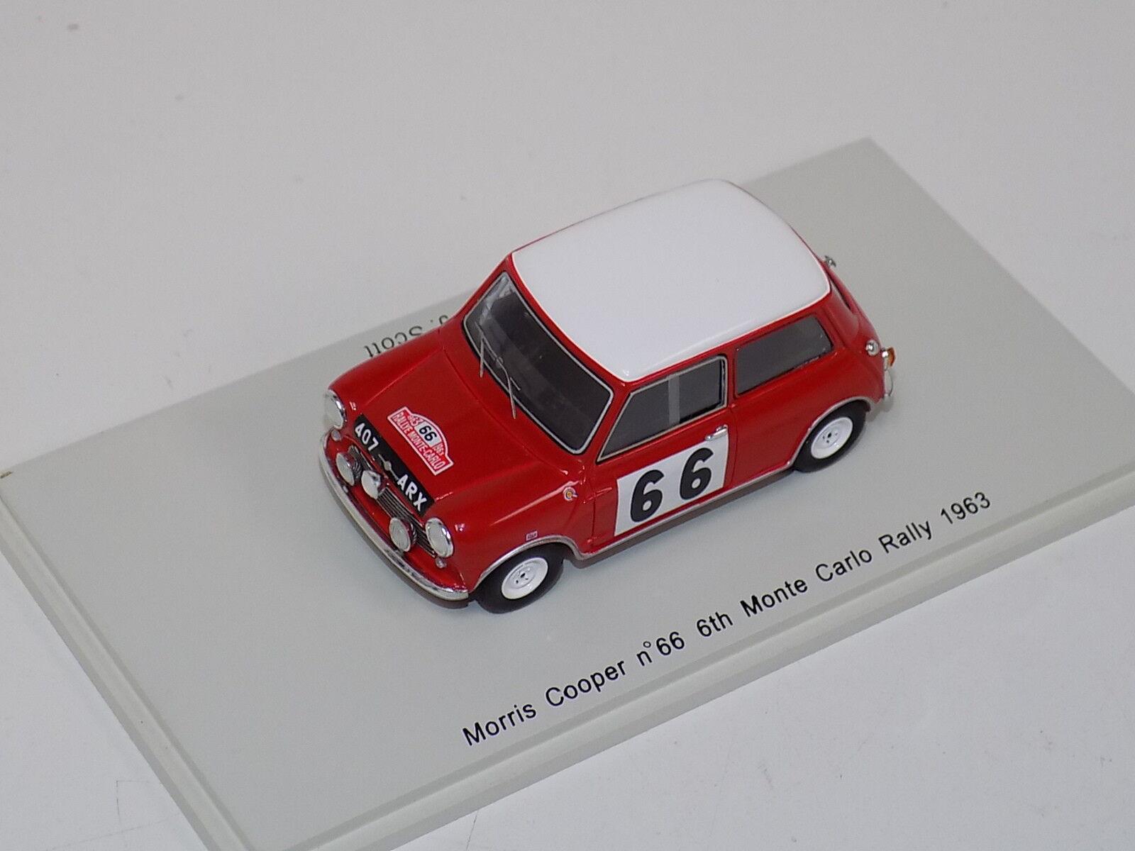 Mini Cooper S BMH RALLYE MONTE CARLO 1997 #156 Dron//DOUGLAS Skid SKC99008 1:43
