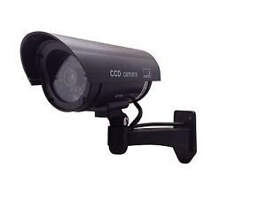 Fake-Dummy-Security-Camera-with-LED-light-Surveillance-indoor-outdoor-black